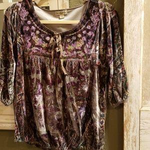 Unique 💎 peasant blouse EUC Like New!!